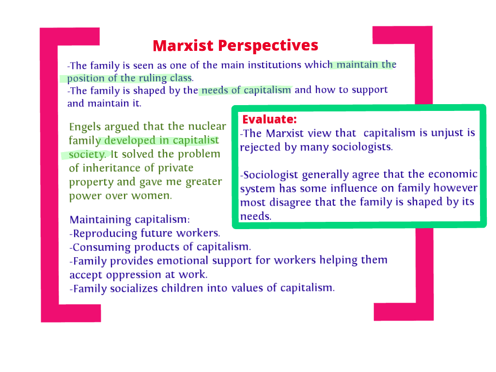 functionalism vs marxism a family case study 7 the theory of marxism  (functionalism and the family,  a case study on the family unit and society as they.