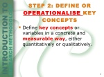 operationalisation